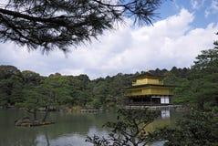 золотистый висок павильона kinkakuji Стоковая Фотография RF