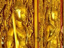 Золотистый висок предохранителей двери Стоковые Фото