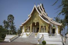 золотистый висок prabang luang Лаоса Стоковые Изображения RF