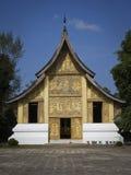 золотистый висок prabang luang Лаоса Стоковое фото RF