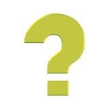 золотистый вопрос о метки Стоковые Фотографии RF