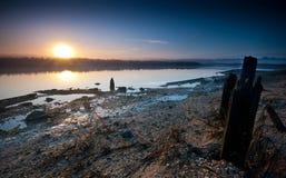 золотистый восход солнца Стоковые Фото
