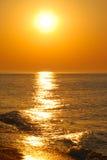 золотистый восход солнца Стоковые Фотографии RF