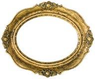 Золотистый вырез картинной рамки Стоковое фото RF