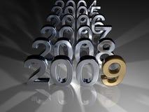 золотистый год Стоковые Изображения RF