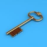 золотистый домашний ключ Стоковые Фото