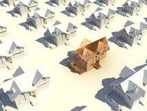 золотистый дом 3d Стоковое Изображение RF