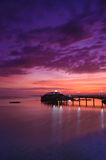 золотистый заход солнца часа Стоковая Фотография RF