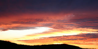 золотистый заход солнца стоковые изображения rf