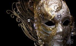 золотистый изолированный russet маски Стоковое Изображение