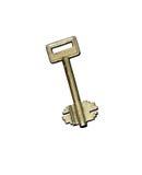 золотистый ключ старый стоковое изображение
