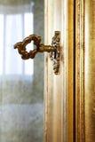 золотистый ключ Стоковая Фотография