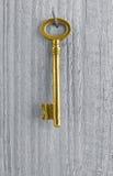 Золотистый ключ Стоковое Фото