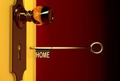 золотистый ключ Стоковое Изображение