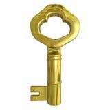 золотистый ключ 3d Стоковые Изображения RF