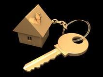 золотистый ключ Стоковое Изображение RF