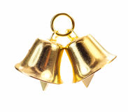 Золотистый колокол на белой предпосылке Стоковая Фотография RF