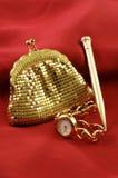 золотистый комплект Стоковое Изображение