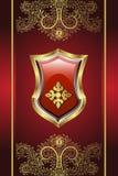 золотистый медальон Стоковые Фотографии RF