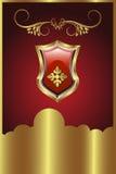 золотистый медальон Стоковые Изображения