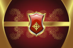 золотистый медальон Стоковые Изображения RF