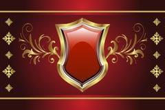 золотистый медальон Стоковые Фото