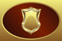 золотистый медальон Стоковое Изображение