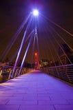 Золотистый мост юбилея в Лондон Стоковая Фотография RF