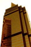 золотистый небоскреб стоковое изображение rf