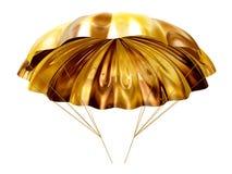 золотистый парашют Стоковая Фотография