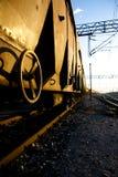 золотистый поезд Стоковые Изображения RF