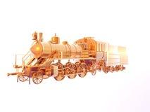 золотистый поезд Стоковые Фотографии RF