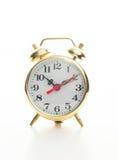 Золотистый ретро будильник типа Стоковое Изображение RF