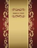 золотистый сбор винограда шаблона Стоковые Фотографии RF