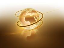 золотистый светя мир Стоковая Фотография RF