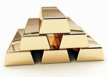золотистый слиток Стоковые Изображения RF