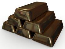 золотистый слиток Стоковое фото RF