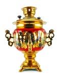 золотистый старый samovar стоковые изображения rf