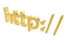 золотистый текст 3d Стоковая Фотография RF