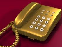 золотистый телефон Стоковые Изображения RF