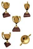 золотистый трофей 3d Стоковое Изображение