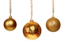 Золотистый шарик 3 Стоковое Изображение RF