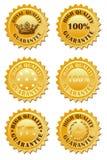 золотистый ярлык Стоковые Фото