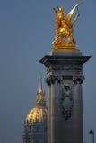 золотистый pegasus Стоковые Изображения
