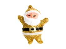 золотистый santa Стоковое Изображение