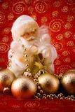 золотистый santa Стоковые Изображения RF
