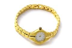 Золотистый wristwatch Стоковое Фото