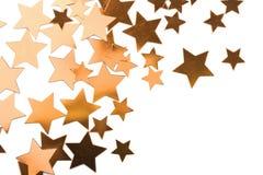 золотистым звезды изолированные праздником стоковая фотография rf