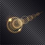 Золотое влияние Lght круга растя круглые сферы бесплатная иллюстрация