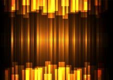 Золотое перекрытие бара скорости в темной предпосылке Стоковые Изображения